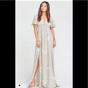 Show Me You Mumu Faye Flutter Maxi Dress